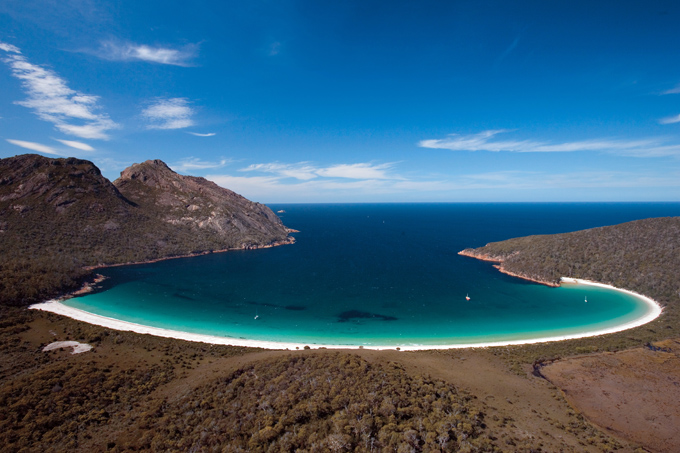 Wineglass Bay, Freycinet National Park, Tasmania, Australi