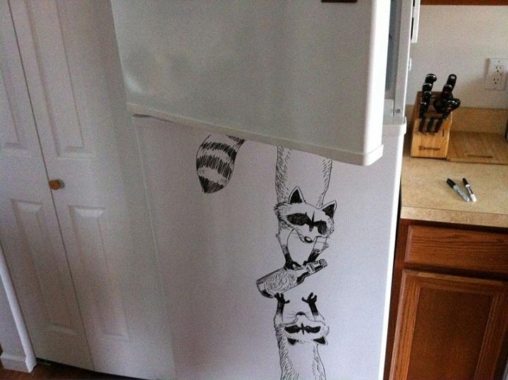Απίστευτες ζωγραφιές επάνω σε ψυγεία <p data-wpview-marker=