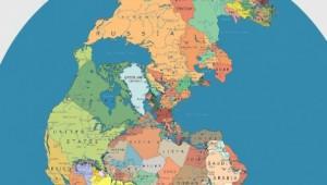 Η υδρόγειος πριν 300 εκατομμύρια με τα σημερινά κράτη