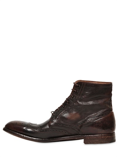 #4 ENGLISH BROGUE HAND WASHED LEATHER BOOTS