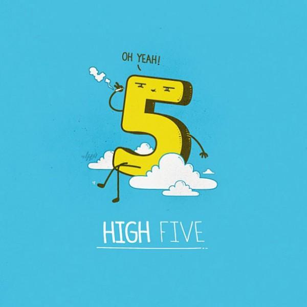 high five - 16 ξεκαρδιστικά λογοπαίγνια από… καθημερινά αντικείμενα! - σκιτσο, λογοπαίγνιο