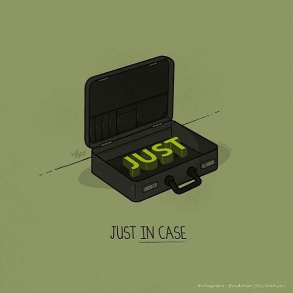 just in case - 16 ξεκαρδιστικά λογοπαίγνια από… καθημερινά αντικείμενα! - σκιτσο, λογοπαίγνιο