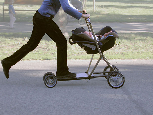 Baby Stroller and Scooter Hybrid
