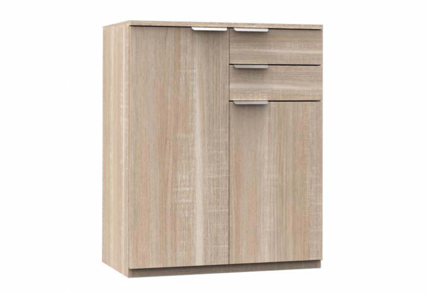Έπιπλο γενικής χρήσης Enjoy με δύο ντουλάπια, δύο συρτάρια