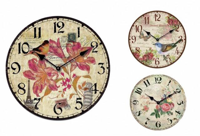 Ρολόι τοίχου με διάφορα σχέδια