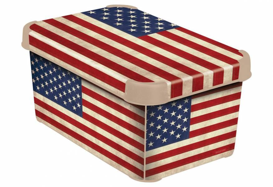 Κουτί Αποθήκευσης Stockholm Curver American Flag