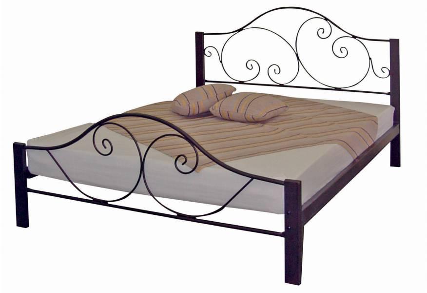 Κρεβάτι Abeline Διπλό Σκουριά