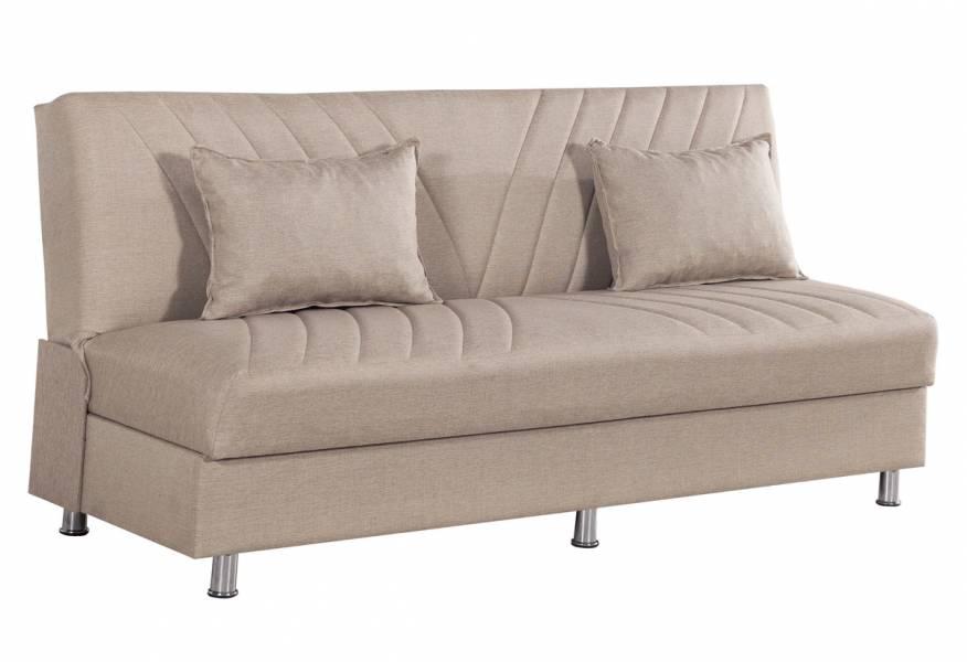 Καναπές κρεβάτι Laura Μπεζ