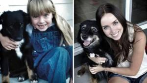Πριν και μετά: Φωτογραφίες σκύλων από κουτάβια μέχρι σήμερα