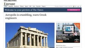 Times: Ο βράχος της Ακρόπολης καταρρέει!
