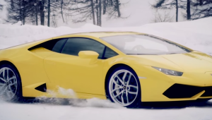 Winter Accademia: Οδηγώντας μια Lamborghini στο χιόνι!