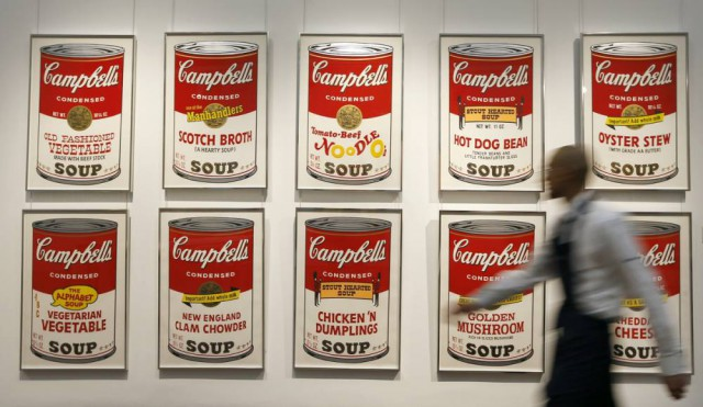 "10. Andy Warhol - ""Campbell's Soup Screenprints"""