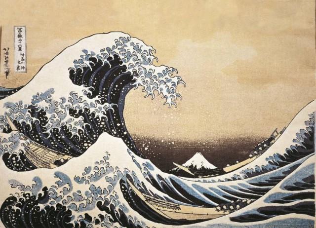 "13. Katsushika Hokusai - ""The Great Wave off Kanagawa"""