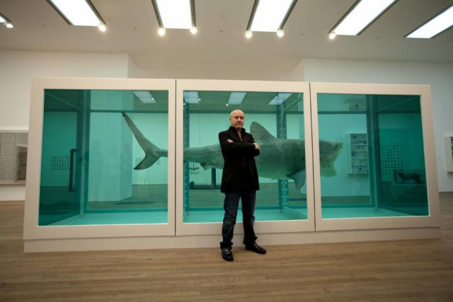 "15. Damien Hirst - ""The Physical Impossibility of Death in the Mind of Someone Living"""