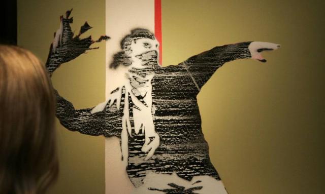 "19. Banksy - ""Riot Green"""