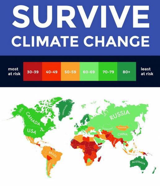 κλιματική αλλαγή - χάρτης