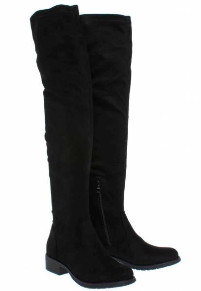 083165e3dc0 Over the knee μπότες σε μαύρο χρώμα ARTE PIEDI (Η μπότα είναι ελαστική και  έχει φερμουάρ. Υλικό Κατασκευής: Συνθετικό Suede. Ύψος Τακουνιού: 3,5 εκ.