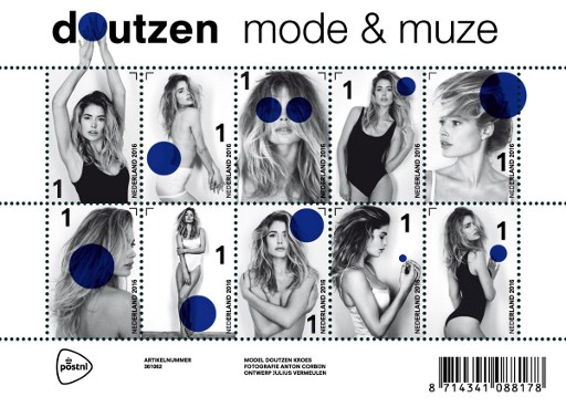 "This handout picture released by PostNL on September 10, 2016 shows a postal stamp created by Dutch photographer Anton Corbijn, featuring model Doutzen Kroes. They're not your usual boring stamps showing bucolic scenes or national landmarks. Instead, the Dutch post office is rolling out a collection with supermodel Doutzen Kroes in a series of poses. Her arms coyly crossed across her naked chest, or clad only in a swimsuit, the former Victoria's Secret lingerie girl will likely have many philatelists cheering. / AFP PHOTO / ANP / PostNL / RESTRICTED TO EDITORIAL USE - MANDATORY MENTION OF THE ARTIST UPON PUBLICATION - MANDATORY CREDIT ""AFP PHOTO / POSTNL/ ANTON CORBIJN"" - TO ILLUSTRATE THE EVENT AS SPECIFIED IN THE CAPTION - NO MARKETING NO ADVERTISING CAMPAIGNS - DISTRIBUTED AS A SERVICE TO CLIENTS - NO ARCHIVE / NETHERLANDS OUT"