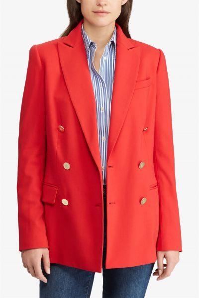 d2077c14ac74 Lauren Ralph Lauren γυναικείo σακάκι Stretch Wool Blazer Crimson Κόκκινο