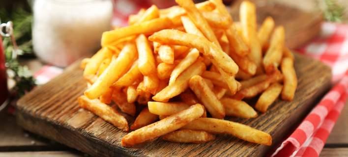 ραντεβού με τηγανιτές πατάτες Συνδέστε το έρμα